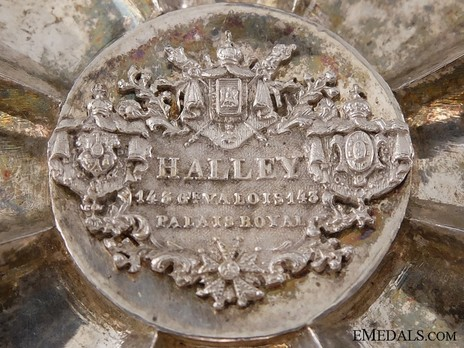 Royal Order of Merit of St. Michael, I Class Cross Breast Star (1860-1870) Reverse Detail