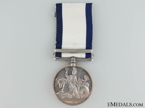 """Silver Medal (with """"NAVARINO"""" clasp) Reverse"""