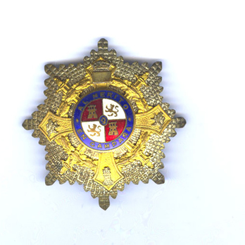 Military Order of Maria Cristina, I Class Cross Breast Star (1890-1918/1925-1931)