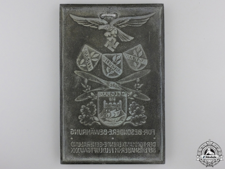 Honour Plaque for Proof of Merit in Field Air District XXX Reverse