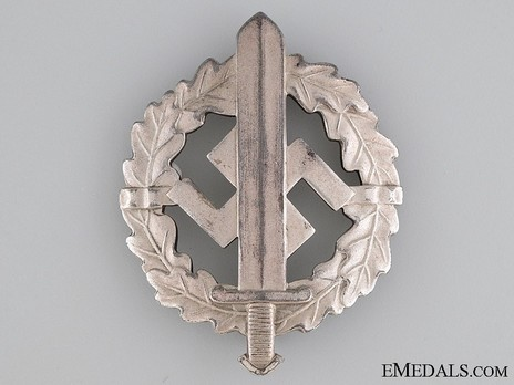 SA Sports Badge, Type II, in Silver Obverse