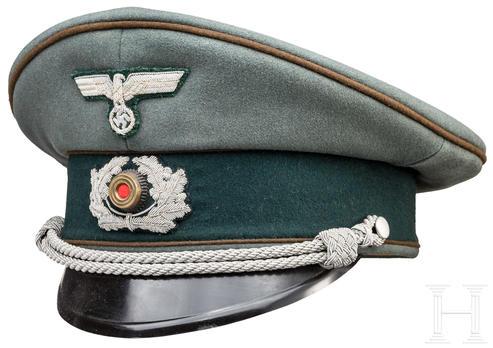 German Army Construction Officer's Visor Cap Profile