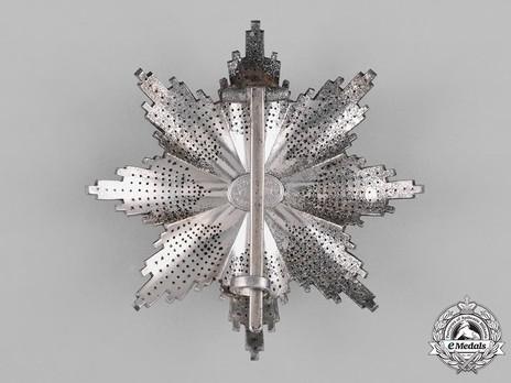 Order of St. Olav, Grand Cross Breast Star, Civil Division Reverse