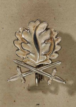 Oak Leaves with Swords to the Knight's Cross of the Iron Cross (by Godet, 21) Obverse