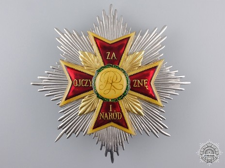 Order of the White Eagle, Breast Star (1941-1989) Obverse
