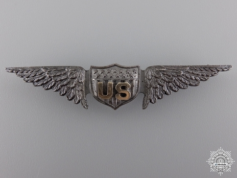 "Pilot Wings (with sterling silver) (by William Link, stamped ""W CO"") Obverse"