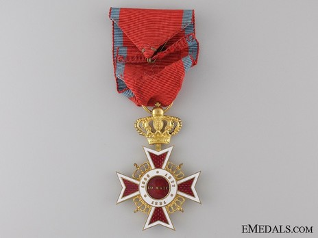 Order of the Romanian Crown, Type II, Civil Division, Officer's Cross Reverse