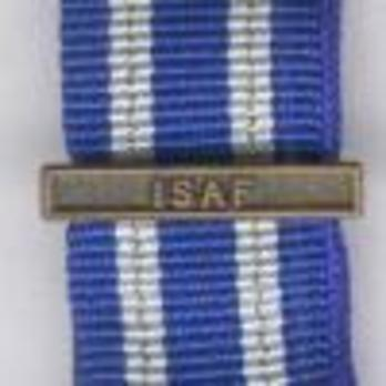 """Miniature Bronze Medal (for Afghanistan, with """"ISAF"""" clasp)  Clasp"""