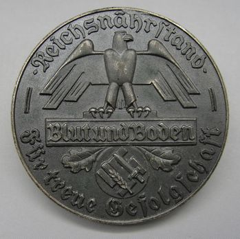 State Farmers' Group Rhineland Badges, Faithful Service Decoration for 10 Years Obverse