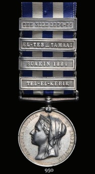 Egypt Medal (1882-1889) (with 4 clasps)