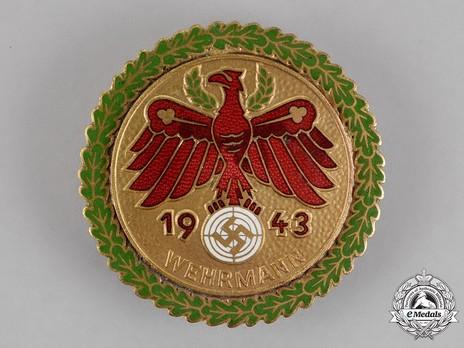 Tyrolean Marksmanship Gau Achievement, Type VI, Champion Badge (for rifle) Obverse