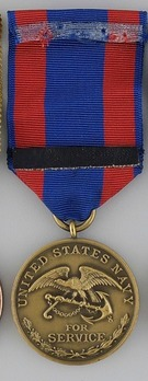 Bronze Medal (for Navy, with 2nd style ribbon) Reverse