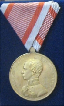 Type V, Gold Medal (with left facing profile) Obverse