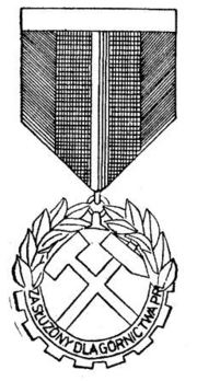 Decoration for Merit in the Mining Industry, III Class Obverse