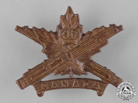 Machine Gun Corps General ServiceOfficers Cap Badge (with Maple Leaf Design) Obverse