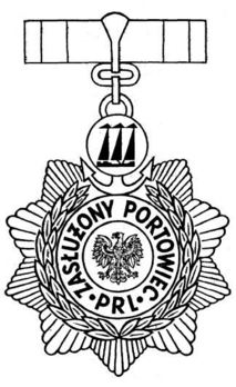 Meritorious Dock Worker of the Polish People's Republic Obverse