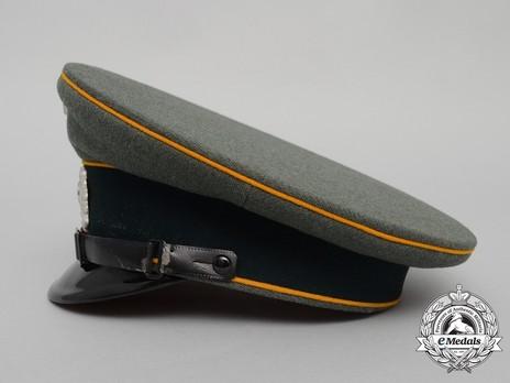 German Army Cavalry NCO/EM's Visor Cap Left Side