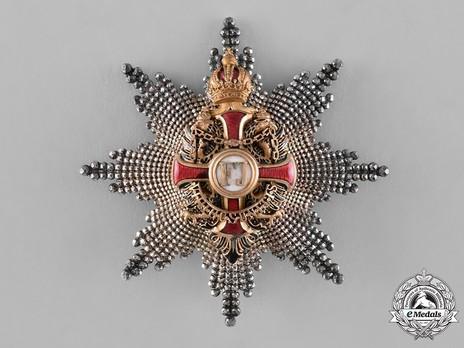 Order of Franz Joseph, Type II, Civil Division, Grand Cross Breast Star