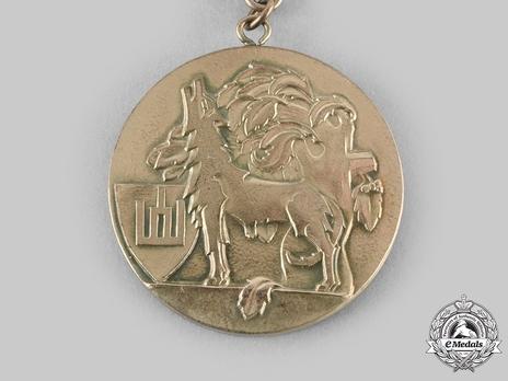 Order of Gediminas, Type II, I Class Medal Reverse