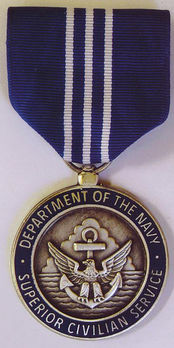 Navy Superior Civilian Service Award Obverse