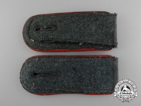 German Army Artillery & Ordnance Stabsfeldwebel 2nd Pattern Shoulder Boards Reverse