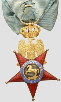 Royal Order of the Two Sicilies, Type I, Knight (with crown) Reverse