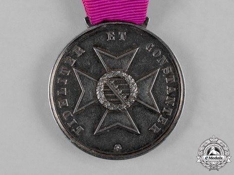 Saxe-Ernestine House Order Medals of Merit, in Silver Reverse