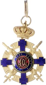 The Order of the Star of Romania, Type II, Military Division, Commander's Cross (peacetime)