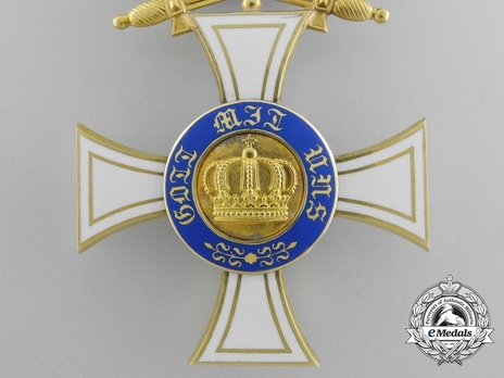 Military Division, Type II, III Class Cross (with swords on ring, in gold)