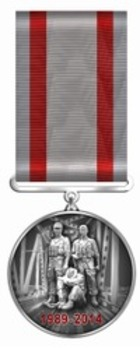 25 Years of the Withdrawal from Afghanistan Medal Obverse