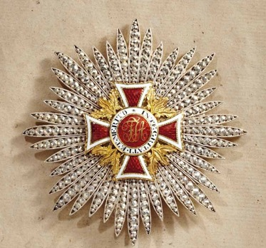 Order of Leopold, Type I, Civil Division, Grand Cross Breast Star