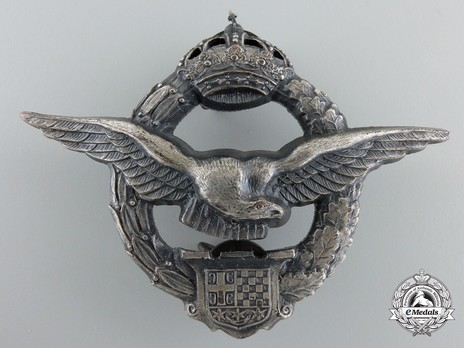 WWII Army Air Service Pilot's Badge Obverse