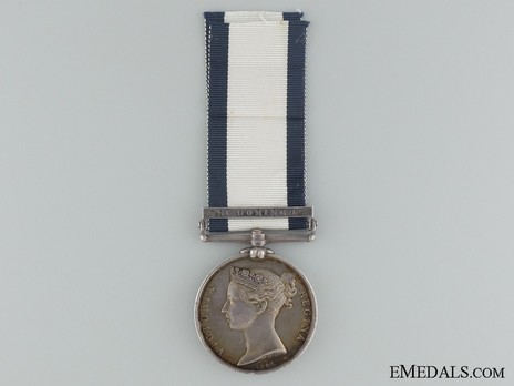 """Silver Medal (with """"ST DOMINGO"""" clasp) Obverse"""