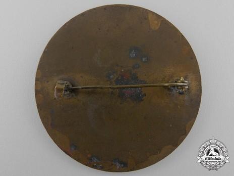Tyrolean Marksmanship Gau Achievement Badge, Type I, in Bronze Reverse