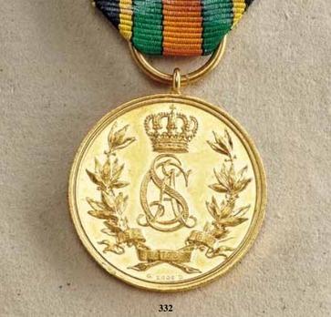 "Golden Wedding Jubilee Medal, in Gold (stamped ""W.UHLMANN SC.G.LOOS DIR. G.LOOS D."")"