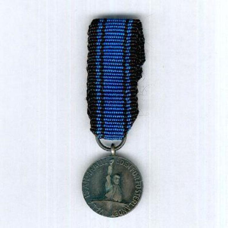 Mini white metal medal obv s2