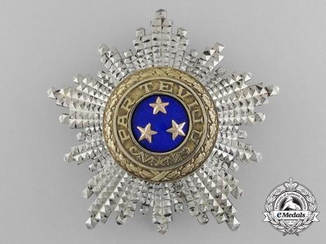 Order of the Three Stars, I Class Breast Star Obverse