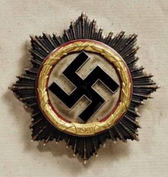 German Cross, in Gold, by Deschler (4 rivets, unmarked) Obverse