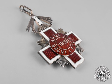 Order of the Estonian Red Cross, II Class Cross Reverse