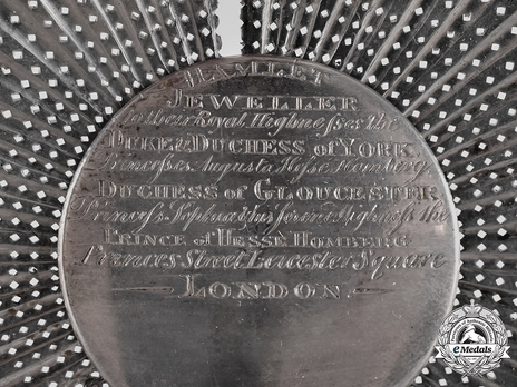 High Order of the Black Eagle, Breast Star (c. 1820 by Hamlet)