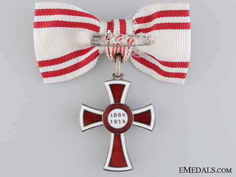 Civil Division, II Class Cross (for Women) Reverse
