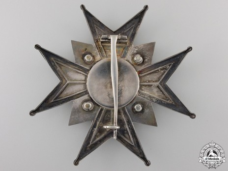 Commander Grand Cross Breast Star (with silver and silver gilt) Reverse