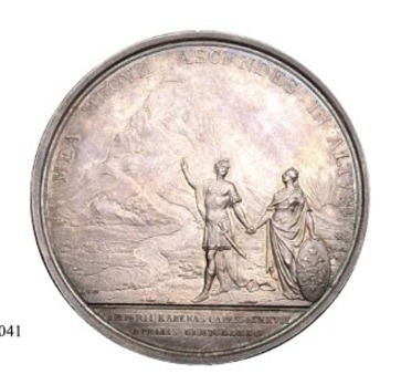 Accession of Peter the Great in 1682 Table Medal (in silver) Reverse