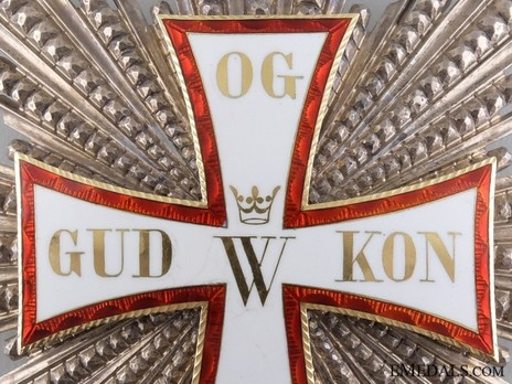 Order of Dannebrog, Grand Cross Breast Star (Silver/Gold) Obverse