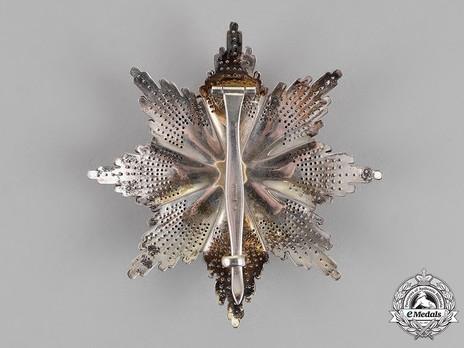 Order of Saint Sava, Type III, II Class Breast Star Reverse