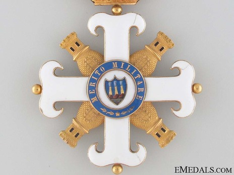 Order of San Marino, Type I, Military Division, Commander Reverse