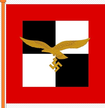 Luftwaffe Flag of Luftflotte Chief Obverse