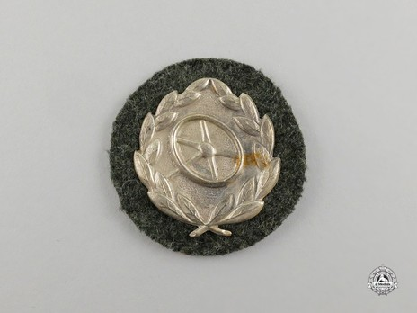 Driver Proficiency Badge, in Silver Obverse