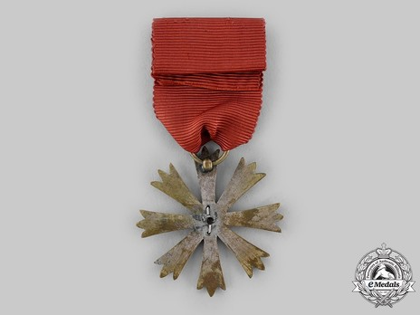 Order of Arts and Science, IV Class Medal Reverse