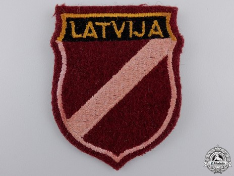German Army Latvia Sleeve Insignia Obverse